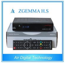 10pcs/lot  Air Digital Original Enigma2 Linux os HD DVB S2 Satellite receiver ZGEMMA H .S Dual Core smart tv box