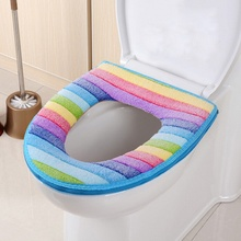 New Winter Toilet Seat Warmer Coral fleece Thicken Carpet Toilet Seat Cover Soft Comfortable Baby Potty Seat Overcoat Toilet Cas