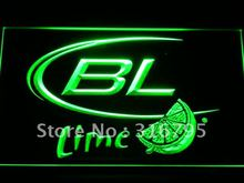 a214-g Bud Light Lime Beer LED Neon Sign with On/Off Switch 7 Colors to choose