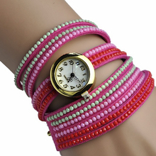 Top Luxury Ice Cream Bracelet Watch women  Retro PU leather wristwatch reloj Vintage Fashion girl relogio Dropship school