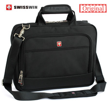 Swiss Brand laptop Briefcase Men 14 inch laptop Bag Case Multifunctional Messenger Shoulder Bag portfolio for Macbook HP Lenovo