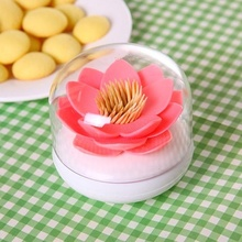 Creative Lotus Shaped Holder Cotton Swab Box Cotton Bud Holder Case Table Decorate Storage Box for Toothpicks Organizer 8cm