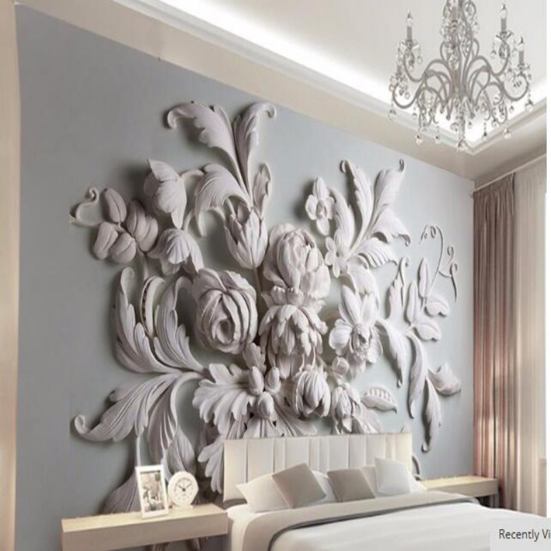 3D photo wallpaper stereoscopic relief European backdrop entrance porch bird leaf 3D large wall mural wallpaper Modern painting<br><br>Aliexpress