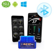 Super Mini ELM327 Bluetooth OBD2 Adapter Auto Scanner obdII Bluetooth ELM 327 v2.1 Support All OBDii protocols