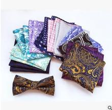 Free Shipping hot sale Men's soft Suit Pocket Square Silk Handkerchief Vintage Paisley Pattern Handkerchief