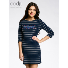 oodji 2017 Women knitted cotton dress free shipping from Russia 14001071-8/46148