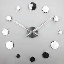 large wall clock modern design silent 3d wall decor clock 3d mirror clocks wall clock reloj de pared XT