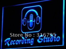 i801 Recording Studio Microphone Bar LED Neon Light Sign On/Off Switch 7 Colors