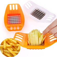 Metal Stainless Steel and Plastic Potato Cutting Device Cut Fries Kit Mold Potato Slicer Cutter Chopper Chips Making Tool