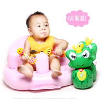 Inflatable Baby Kid Children Bathroom Stools Pink Baby Learn Sofa Chair Seat Small Inflatable Portable Baby Chair T3005