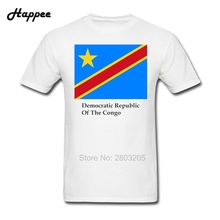Democratic Republic Of The Congo Flag And Name T Shirt Men Short Sleeve 100% Cotton T-Shirts Men New Plus Size Tees Top Clothing