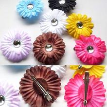 New Arrival Girl Daisy Hair Flower Clips Bow Headbands With Crystal Center Hair Accessories Drop Shipping