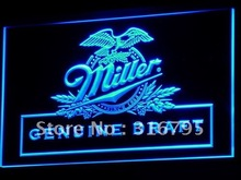 a054 Miller beer Draft Bar Pub Club LED Neon Light Signs Wholesale Dropshipping On/ Off Switch 7 colors DHL