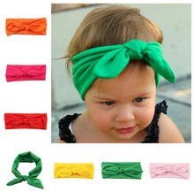 2015 Hot 9 Colors Stock kids Headbands girl Head wraps,Girls Head Wraps,Jersey Knit Headwraps Knot Headband 8pcs/lot(China)