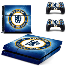 Chelsea Football Club PS4 Skin Sticker Decal For Sony PS4 PlayStation 4 Console and 2 Controllers Stickers