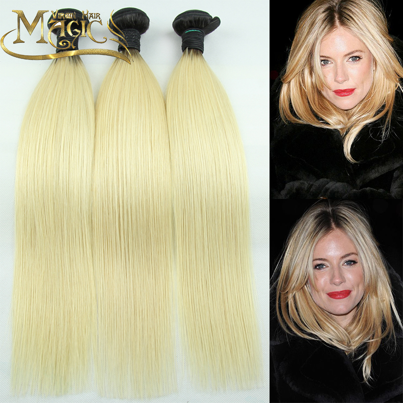 Platinum Blonde Virgin Hair Raw Indian Straight 1b 613 Ombre Bundle Platinum Blonde Ombre Weave 3 pcs Lot Free Shipping<br><br>Aliexpress