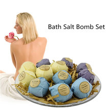 New 6pcs/set 3 Scent Handmade Body Bubble Bomb Bath Salt Fizzies Cleaner Christmas Halloween Gift Set Fragrant SPA Massager(China)