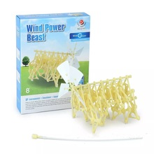 Wind power  perpetual motion machine DIY educational toy assembly  funny DIY assembly mini strandbeest model robot toy can move