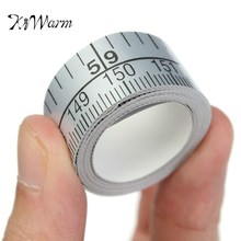 KiWarm 150cm Vinyl Silver Self Adhesive Measuring Tape Measure Ruler Sticker For Sewing Machine Home Tool Accessories