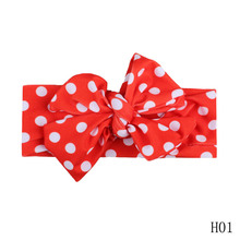 2017 new Bowknot print rabbit ear scarf hair band girl Head Accessories Hairband girls Printed Hairband 5 colors(China)