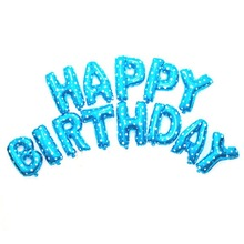 13pcs/set 16 inch letters Number Have a choice Aluminum Film  Balloon Happy Birthday Party Decoration Jubilant Balloons 0030