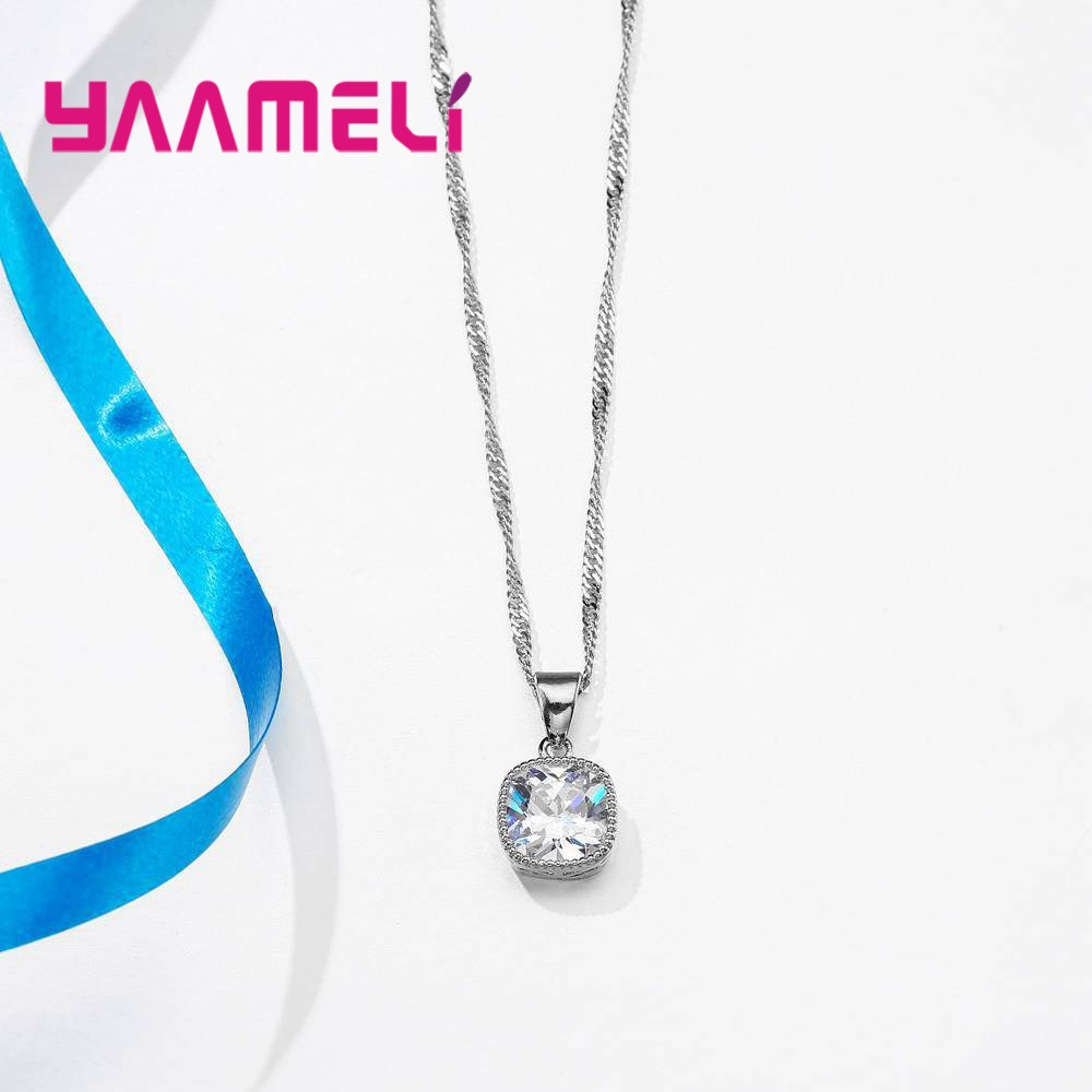 YAAMELI-High-End-Stylish-Women-Necklace-And-Earrings-925-Sterling-Silver-Jewelry-Set-With-Simple-Square (4)