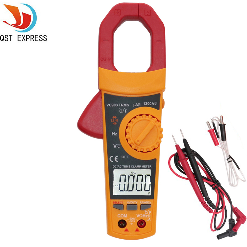 VC903 Portable Auto Digital Clamp Meter 6000 Counts 1000A AC Clamp Meter Resistance Capacitance Temperature Multimeter<br>
