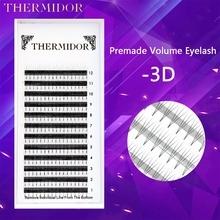 Professional Eyelash Extension Kit Eyelashes Russian Volume Lashes 3D Cilios Extension Premade Volume Lashes To Build BK1(China)