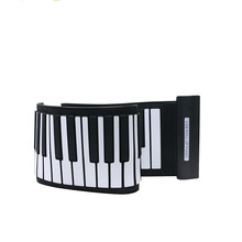 Portable Flexible Silicone USB MIDI Digital Soft Keyboard Piano Flexible hand Roll piano Toy For Teaching Learning