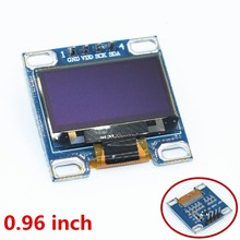"1pcs 4pin 0.96""white 0.96 inch OLED module New 128X64 OLED LCD LED Display Module For 0.96"" IIC I2C Communicate(China)"