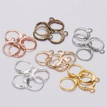 PKR 247.28  31%OFF | 20pcs/lot 14*12mm Silver Gold Bronze French Lever Earring Hooks Wire Settings Base Hoops Earrings For DIY Jewelry Making Supplie