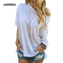 LASPERAL 2017 New European Fashion Women Shirt Casual Batwing Sleeve Loose T-Shirt One Shoulder Tops Casual Loose Soft T Shirts