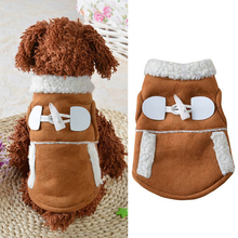 Coffee Brown Khaki Color XS-XL Size Warm Jackets for Pets Dog Clothes Brand Design Pet Dog