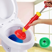Handle Powerful Suction Plunger Toilet Dredger Cleaner Drain Buster With Two Suckers For Sink Cleaning Tool(China)