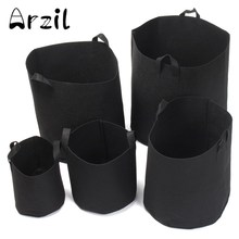 Storage Bags 5Pcs/Set Round Fabric Grow Nursery Pots Flower Plant Pouch Root Container Aeration Container Garden Tools 5 SIZES(China)