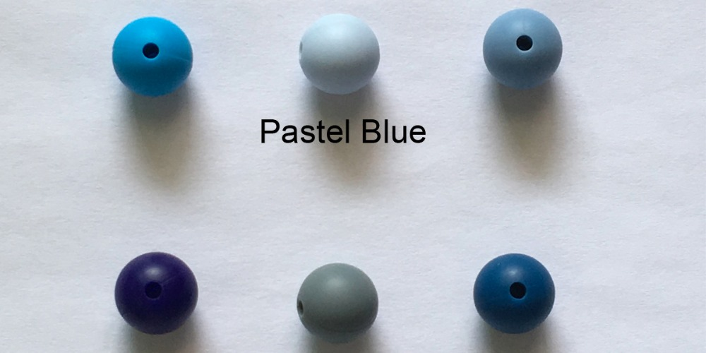 12mm silicone teething beads