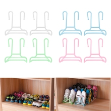 2Pcs/set Drying Rain Shoes Rack Holder Plastic Shoes Stand Shelf Storage Organizer(China)
