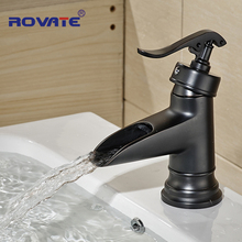 Bathroom cabinet ceramic basin faucet black full copper wash basin faucet bath tap bath tap(China)