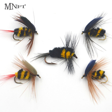 MNFT 30PCS/Set Foam Bee Nymph Flies Fly Fishing Hook Imitation Artificial Bumble Bee Fishing Bait Dry Fly for Trout Fishing
