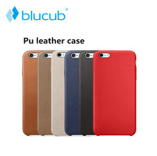 Blucub PU leather Case For iPhone 8 7 Plus,Original 1:1 Copy Back Cover Official Mobile Phone Cases bag for SE 5S 6S with Logo(China)