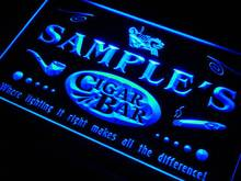 qz-tm Name Personalized Custom Cigar Pipe Bar Lounge Neon Sign with On/Off Switch 7 Colors 4 Sizes