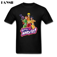 Men Tshirt Classical Short Sleeve Cotton Custom Tee Shirt Men Man's Japanese Anime Totally Naruto Team Clothes Tops