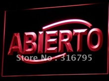 i535 ABIERTO Food Cafe Restaurant NEW LED Neon Light Sign On/Off Swtich 7 Colors 4 Sizes