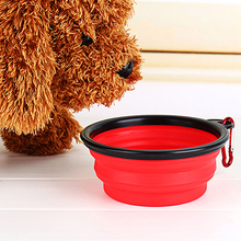 TINGHAO Pet Dog Feeders Portable Silicone Collapsible Travel Feeding Bowl Food Water Dish