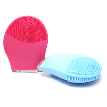 Waterproof Silicon Facial Cleansing mini Brush Best Face Cleaning Massager Brush Electric Facial Cleansing Brushes(China)