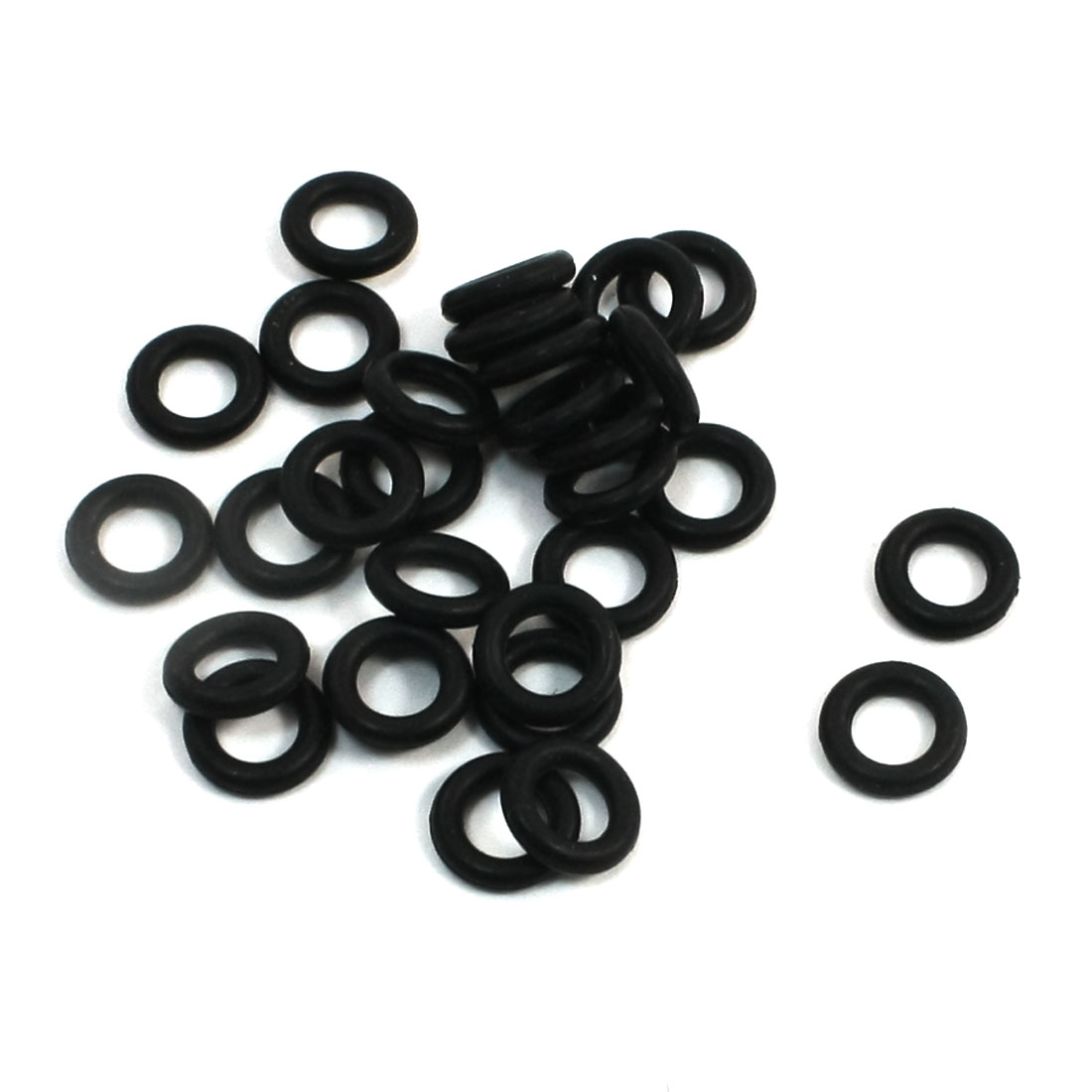 UXCELL 7Mm X 4Mm X 1.5Mm Rubber O Rings Oil Seal Gasket Washer Replacement 30 Pcs(China)