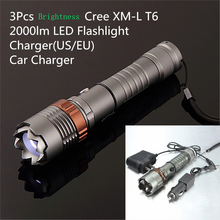 LED Flashlight Portable Hand Light Rechargeable Flashlight Built-in Charger