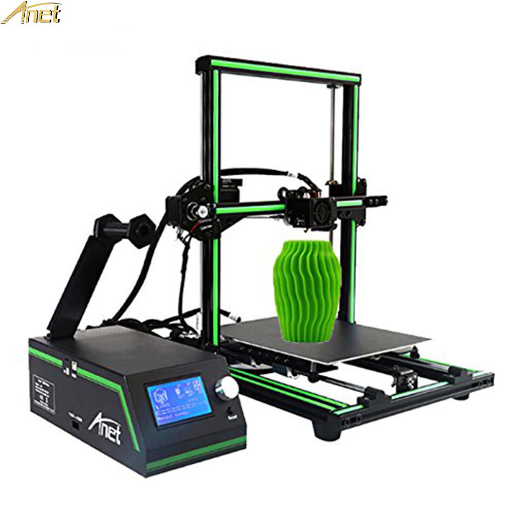 Anet Assembled/Semi Assembled/ DIY 3D Printers Updated Intelligent Multi-functional 3D Printers High Precision Speed 40-120MM/S