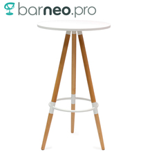 94927 Barneo T-11 MDF High Interior Dinner Table Bar Table Kitchen Furniture Dining Table White free shipping in Russia