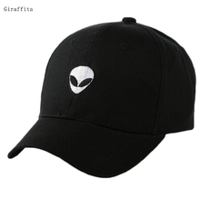 2017 Baseball Cap Black Embroidered Alien Pattern Cap Fashion Cool Adjustable Snapback Hip-hop Baseball Cap Hat Unisex(China)